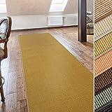 casa pura Sisal Teppich Läufer | Natur | Naturfaser | Qualitätsprodukt aus Deutschland | kombinierbar mit Stufenmatten | 19 Breiten und 18 Längen (60x80 cm)