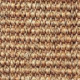 Teppichboden Auslegware   Sisal Naturfaser Schlinge   400 cm Breite   braun natur   Meterware, verschiedene Größen   Größe: 1 x 4m
