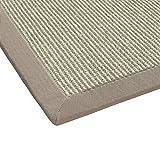 BODENMEISTER Sisal-Teppich modern hochwertige Bordüre Flachgewebe, verschiedene Farben und Größen, Variante: beige natur weiss, 200x290