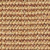 Teppichboden Auslegware   Sisal Naturfaser Schlinge   400 cm Breite   natur hell-braun   Meterware, verschiedene Größen   Größe: 1 x 4m