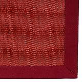 casa pura® Sisal Teppich aus Naturfasern   rot   mit Bordüre aus Baumwolle   pflegeleicht   Größe wählbar (200x290 cm)