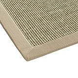 BODENMEISTER Sisal-Teppich modern hochwertige Bordüre Flachgewebe, verschiedene Farben und Größen, Variante: beige braun natur, 80x150