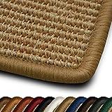 casa pura Sisal Läufer Teppich myStyle | Kettelung in Wunschfarbe | Naturfaser | viele Größen zur Auswahl (Kettelung Beige, 80x350 cm)